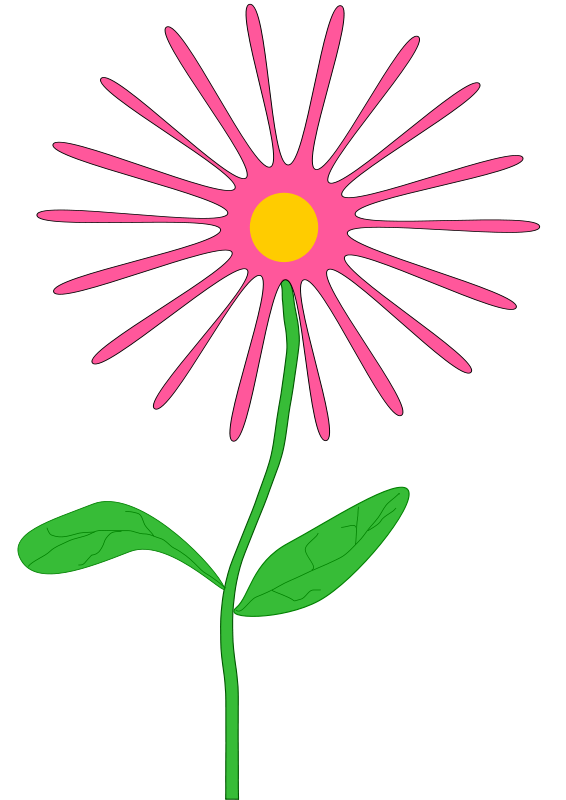 Free Whimsical pink flower