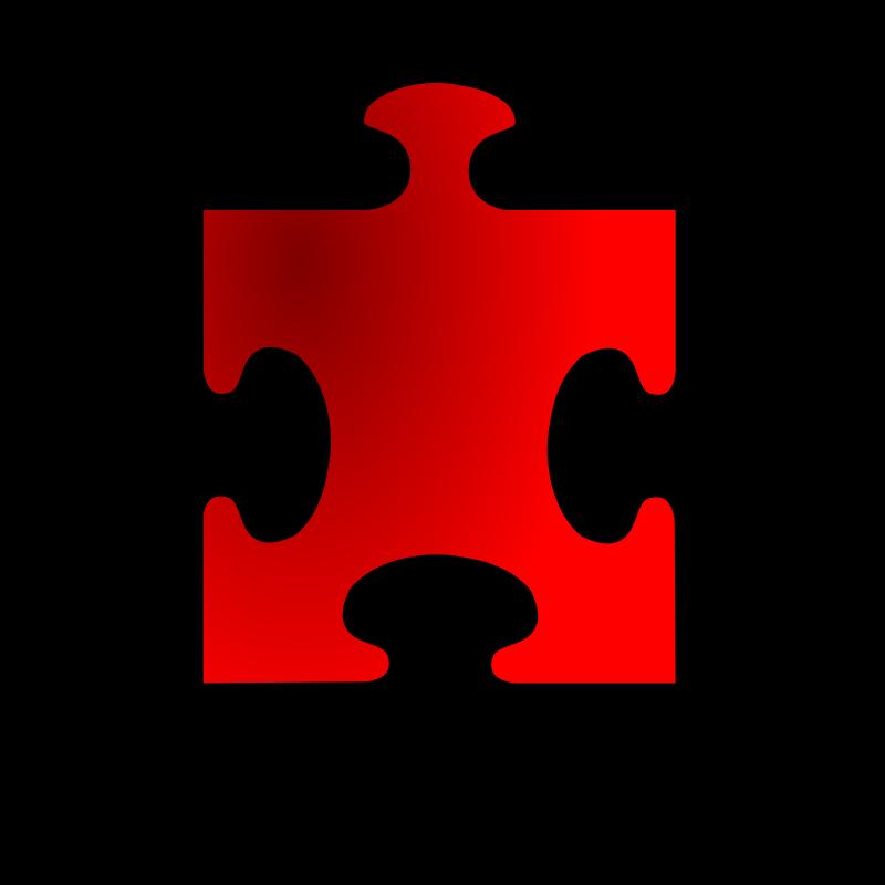 Free Red Jigsaw piece 13