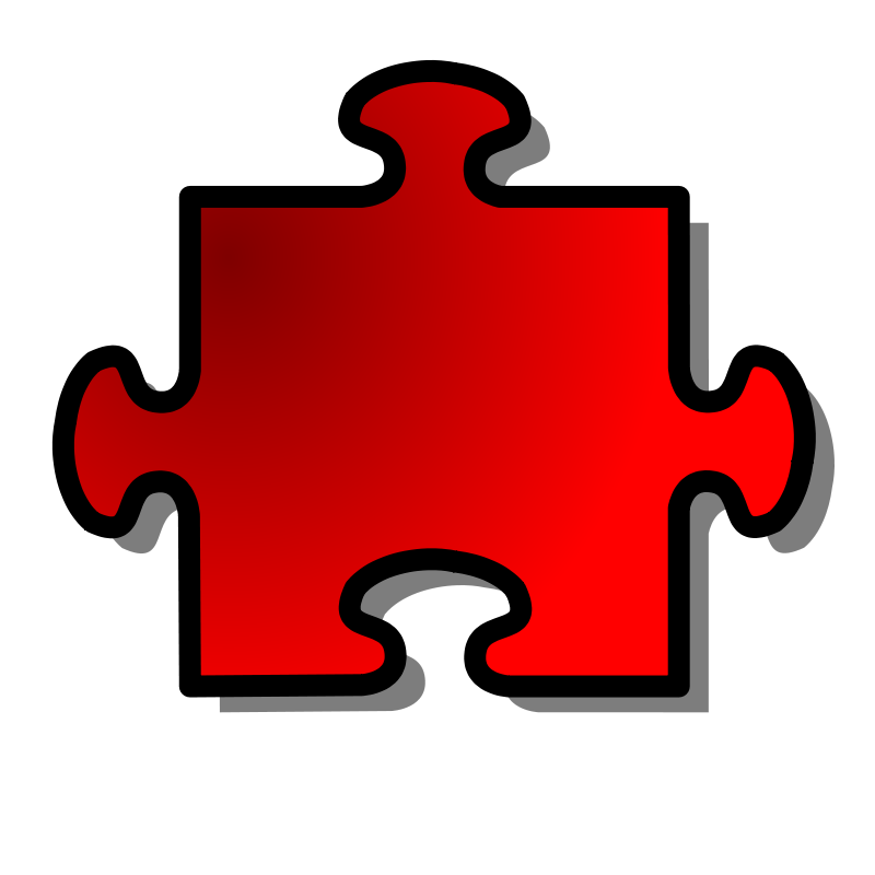 Free Red Jigsaw piece 08