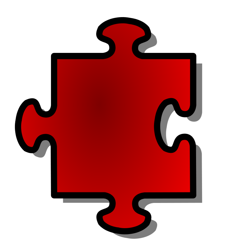 Free Red Jigsaw piece 07