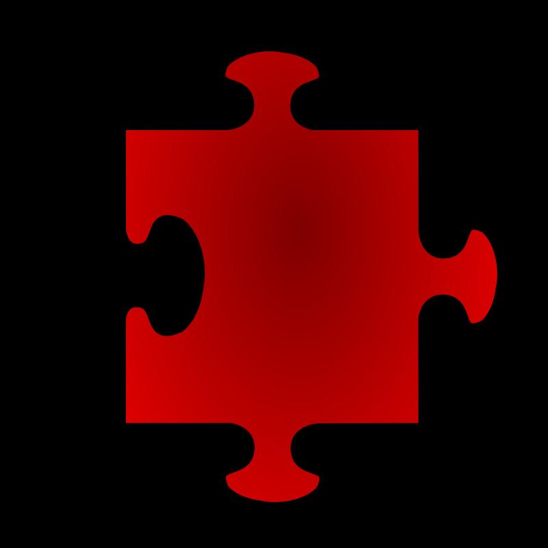 Free Red Jigsaw piece 05