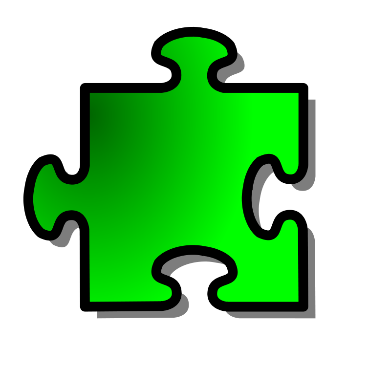 Free Green Jigsaw piece 12