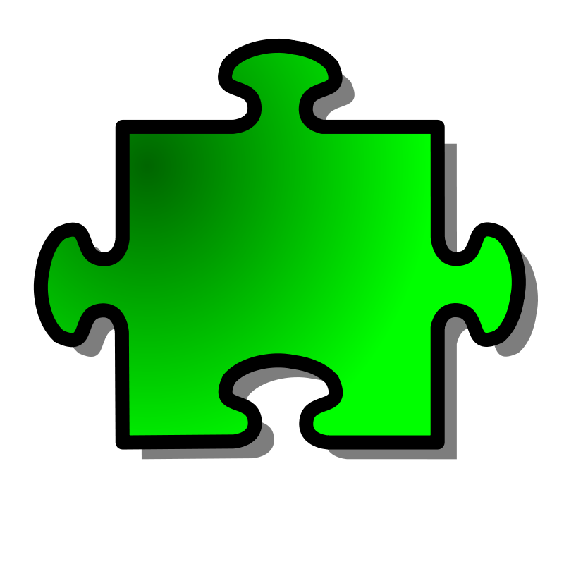 Free Green Jigsaw piece 08