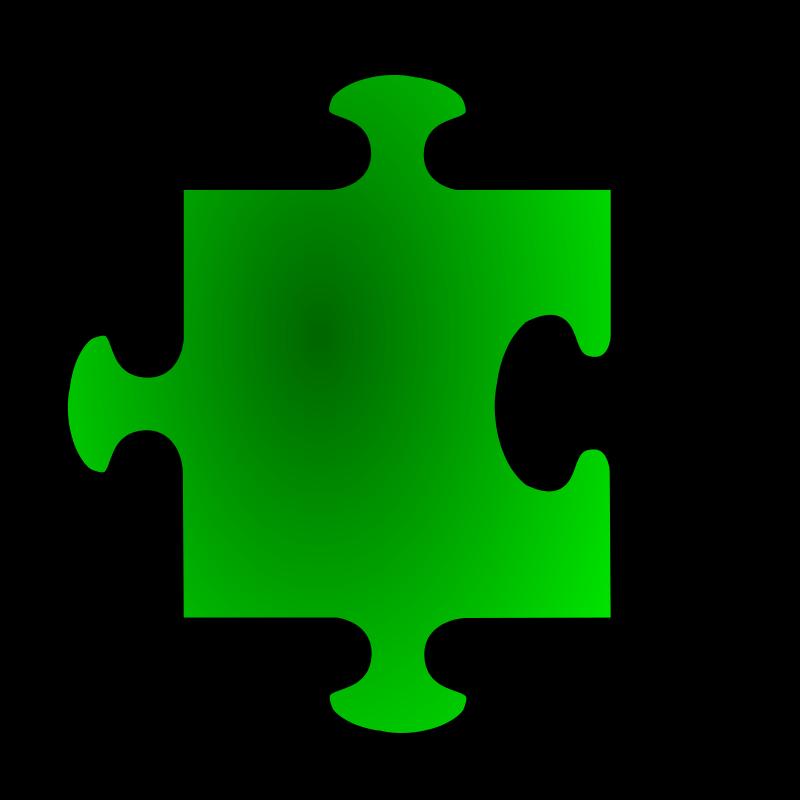 Free Green Jigsaw piece 07