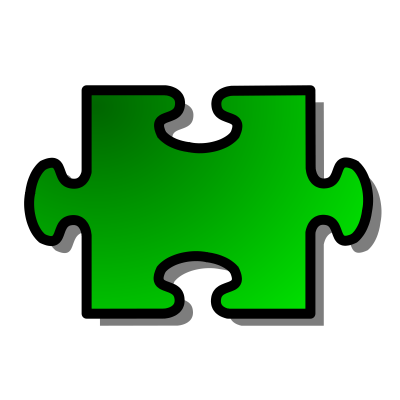 Free Green Jigsaw piece 02