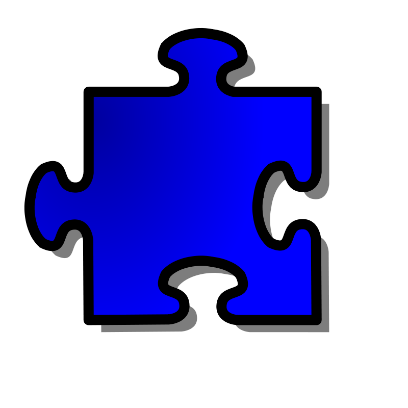 Free Blue Jigsaw piece 12