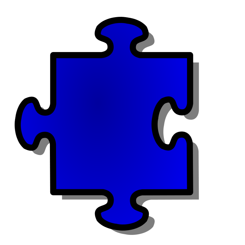 Free Blue Jigsaw piece 07