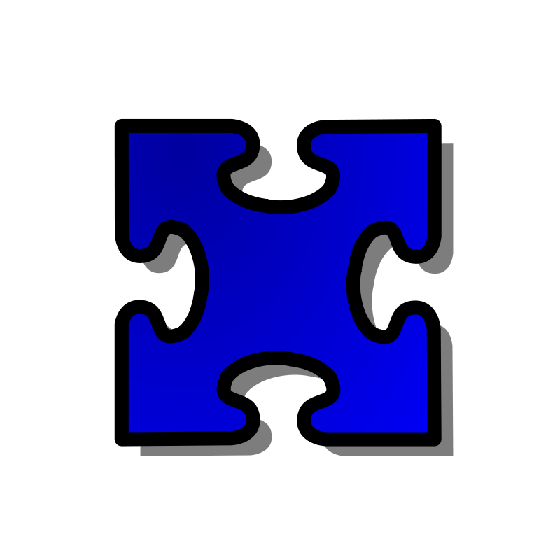 Free Blue Jigsaw piece 03