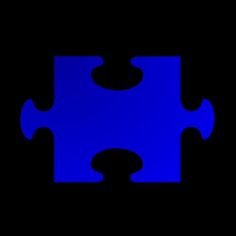 Free Clipart: Blue Jigsaw piece 02 | nicubunu