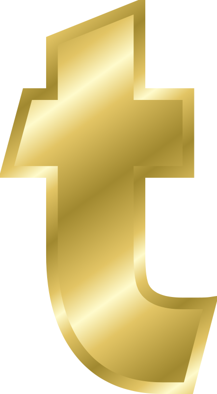 Free Effect Letters alphabet gold