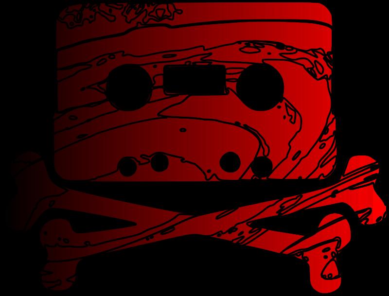 Free Cassette Jolly Roger (Rouge)