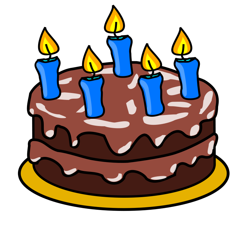 Free Chocolate birthday cake