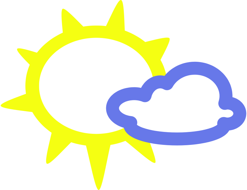 Free simple weather symbols