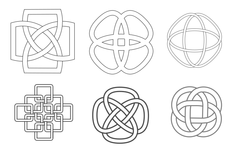 Free Celtic inspired knots