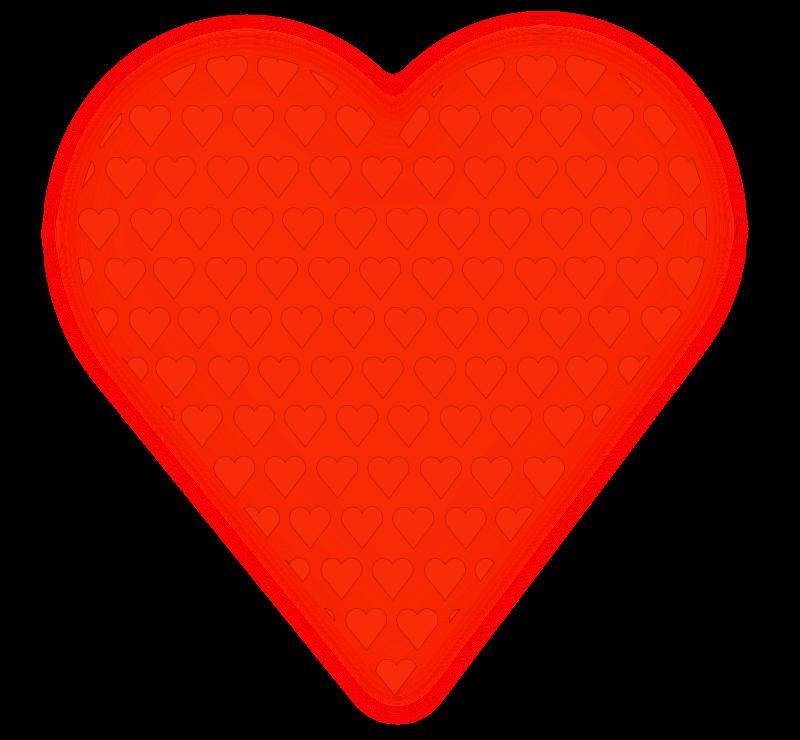 Free Heart in Heart (light red)