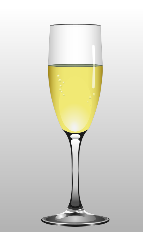Free Clipart: Glass of Champagne | Muga