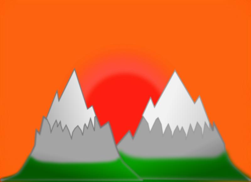 Free Sunset mountain (simple)