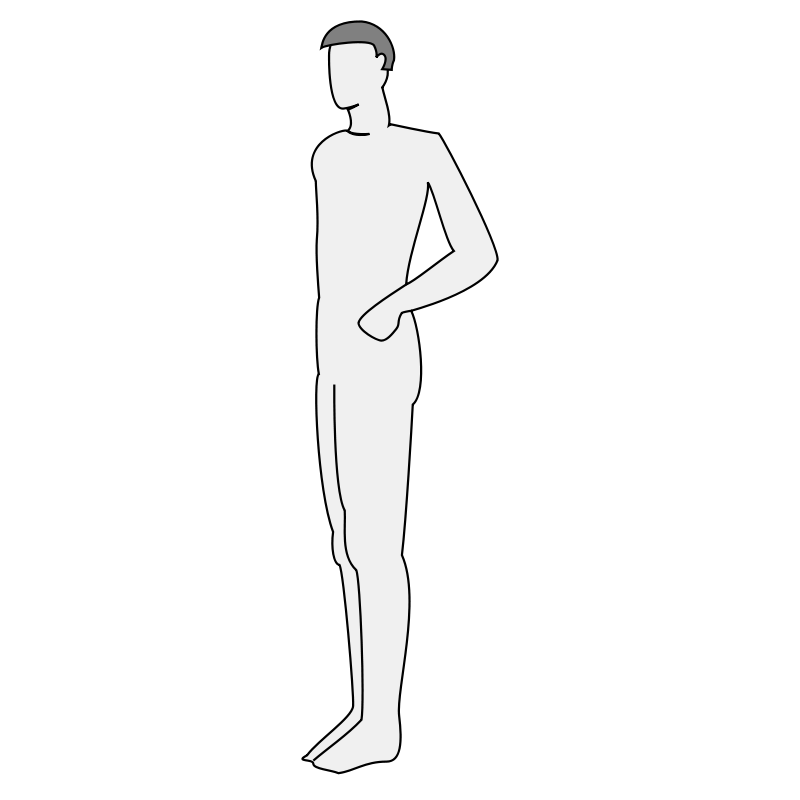 Free Male body silhouette - side