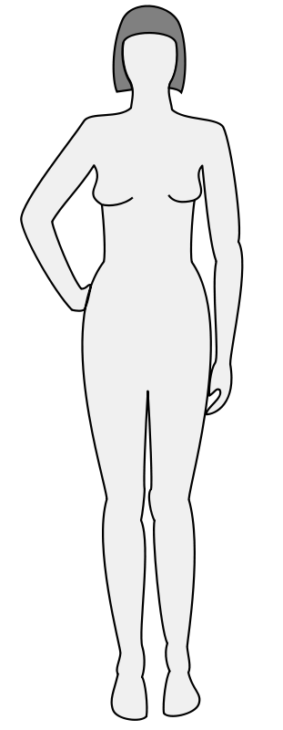 Free Female body silhouette - front