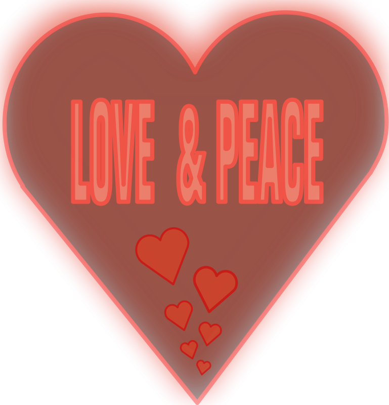 Free Love and Peace in a heart