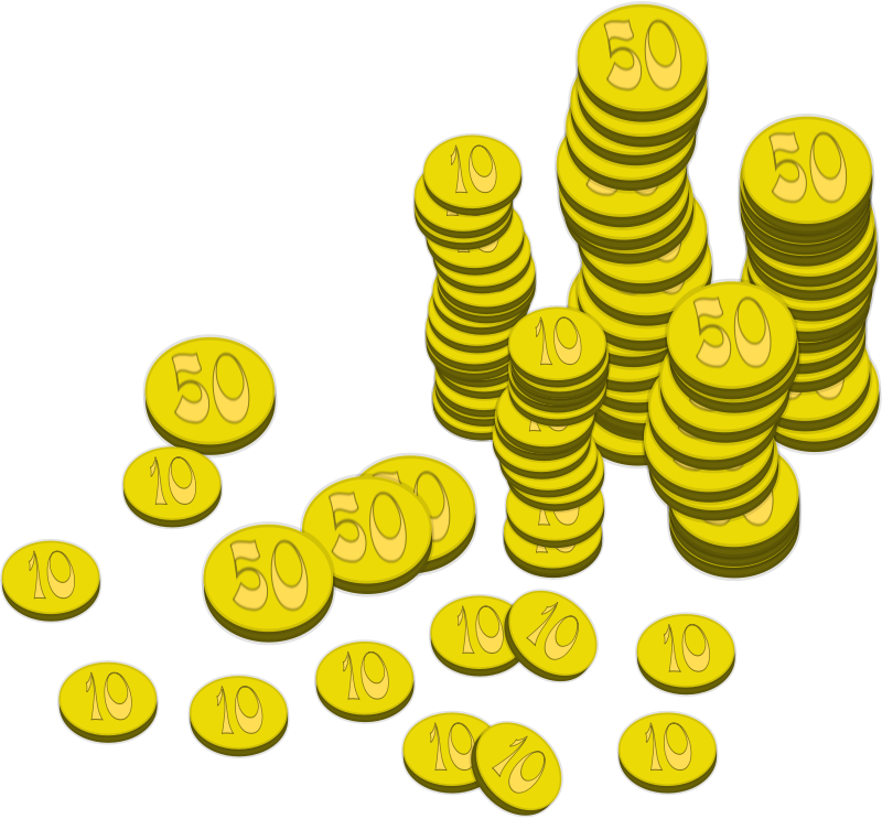 Free Clipart: Coins (Money) | mystica