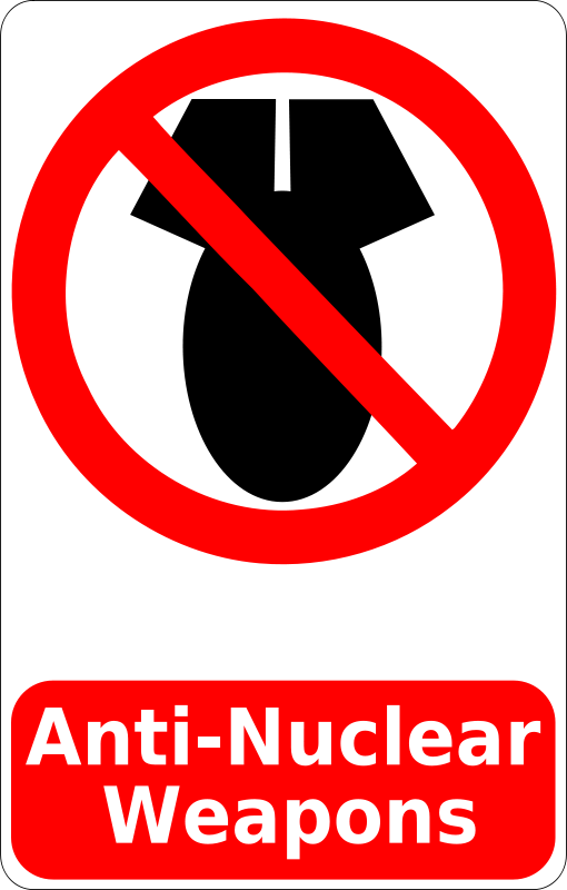 Free Anti-Nuclear Weapons Sign