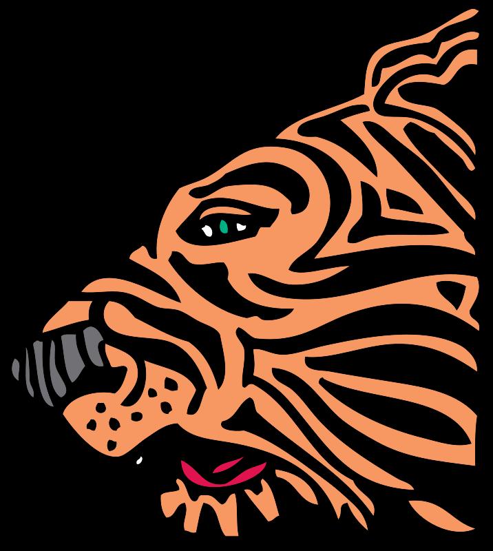 Free tiger head