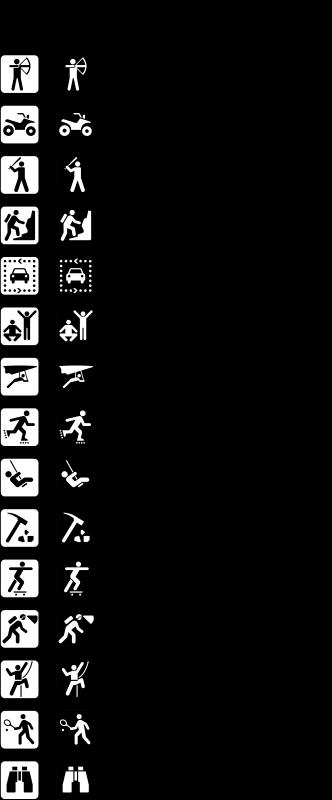 Free Land recreation symbols