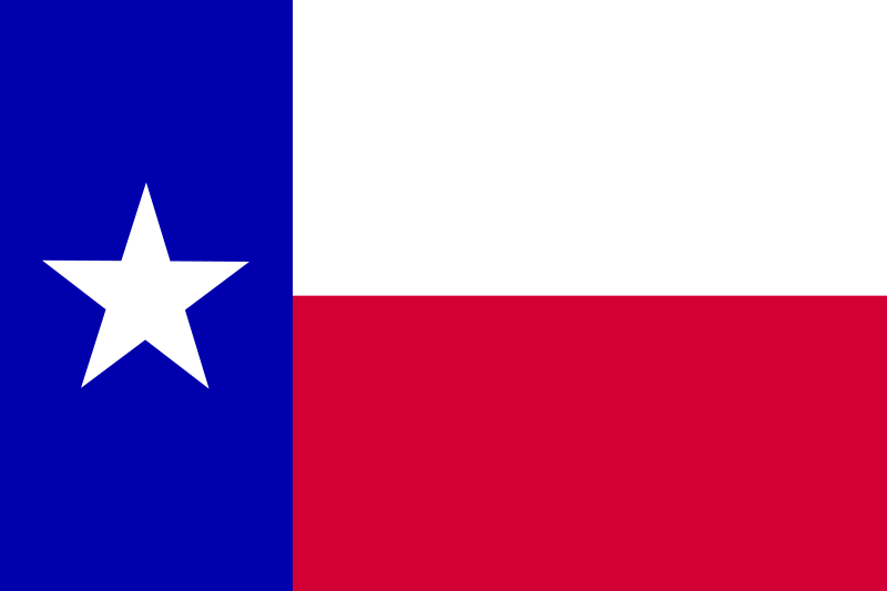 Free Flag of the state of Texas