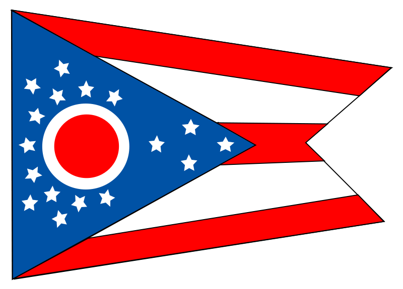 Free Flag of the state of Ohio