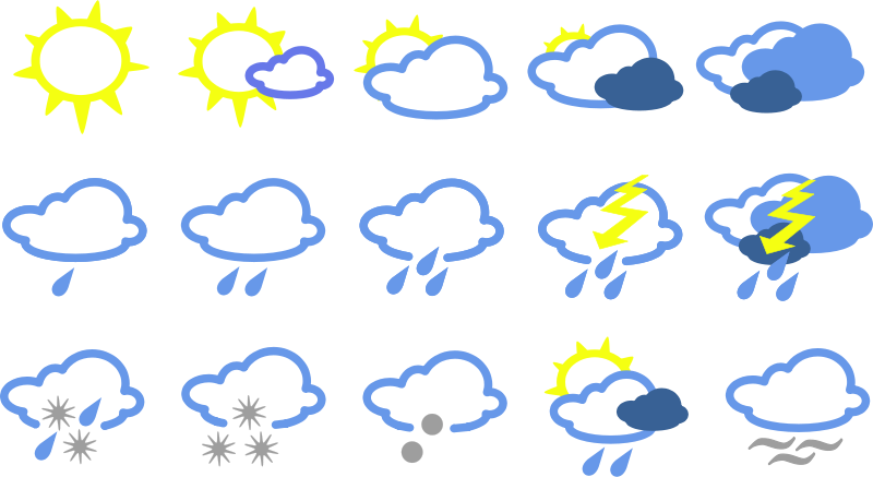 Free simple weather symbols