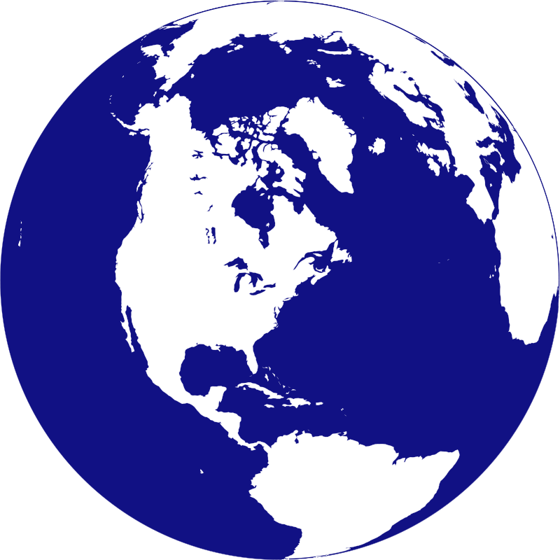 Free Clipart: Northern hemisphere globe | Anonymous