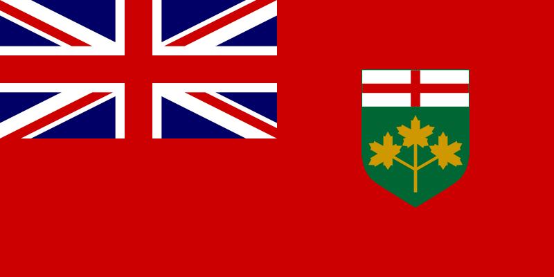Free flag of Ontario Canada