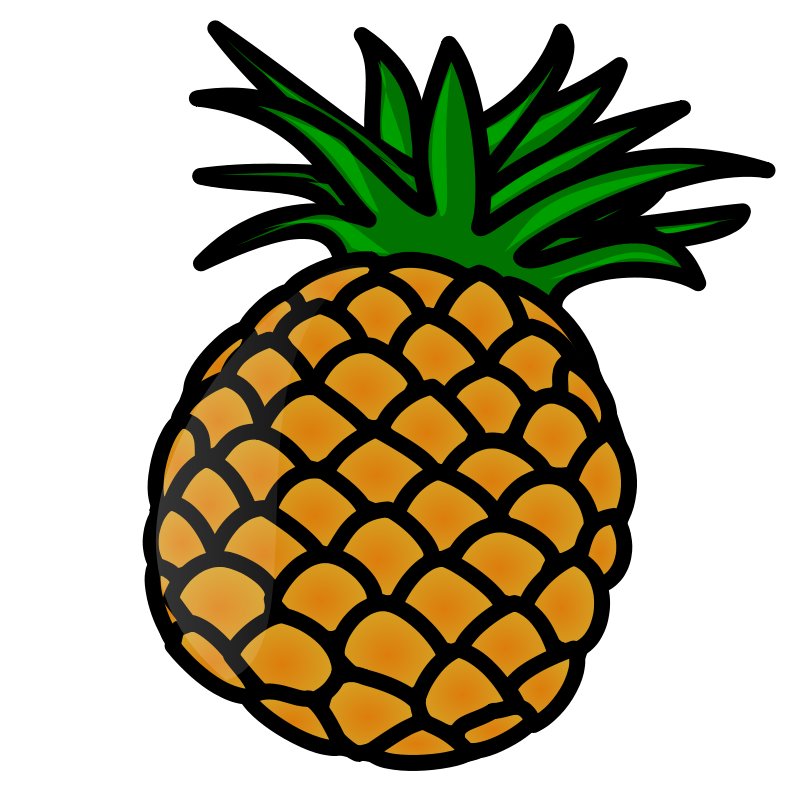 free clipart pineapple nicubunu rh 1001freedownloads com clipart pineapple with face clipart pineapple with face