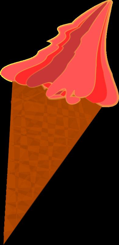 Free Wild-Berry Ice Cream Cone