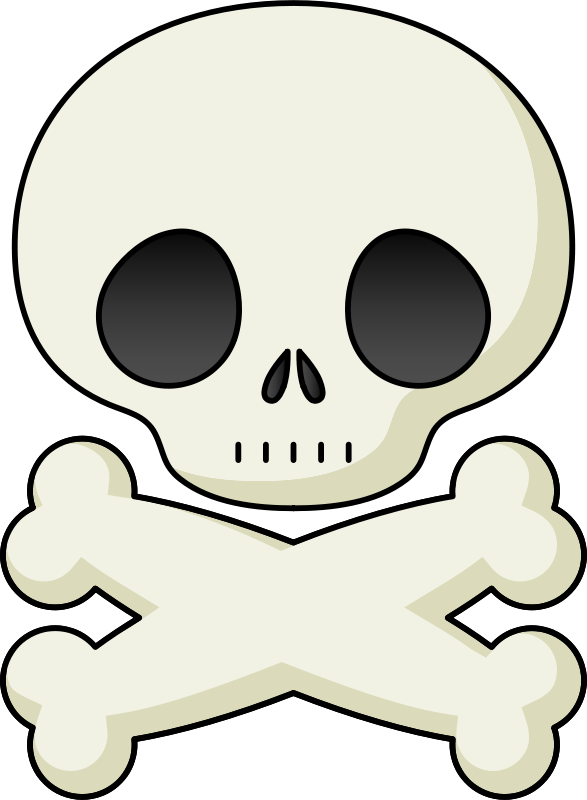 Skull cute. Free clipart anonymous