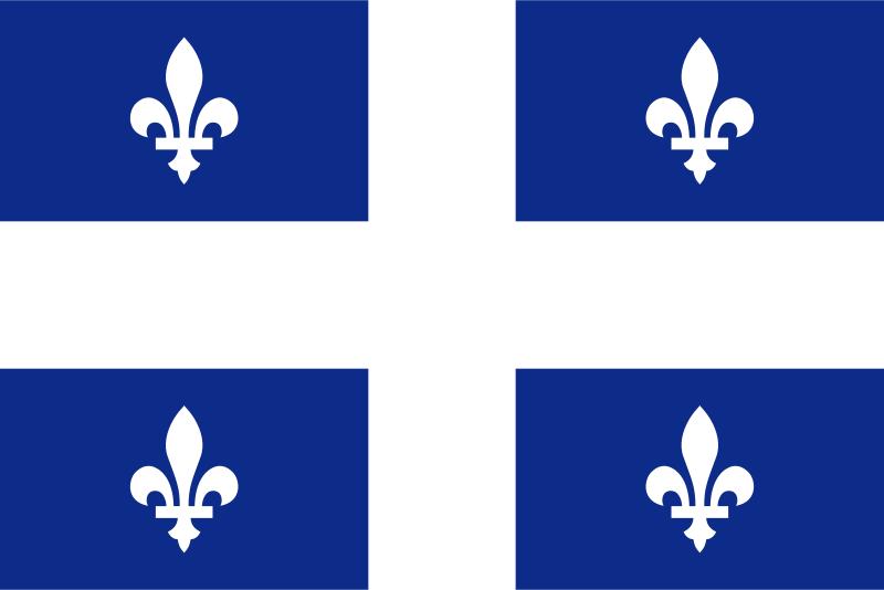 Free flag of Quebec Canada
