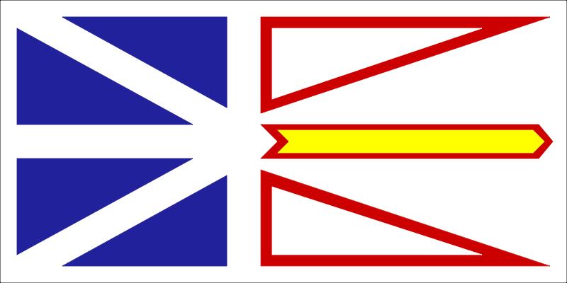 Free flag of newfoundland canada