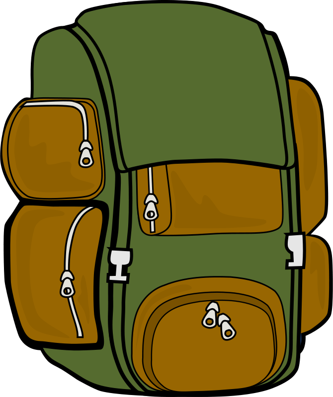 Free Backpack (Green/Brown)
