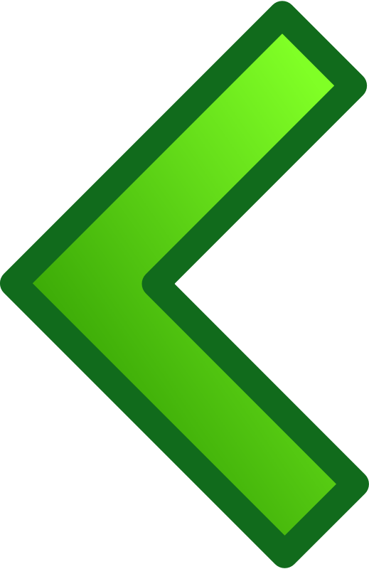 Free green single arrows set