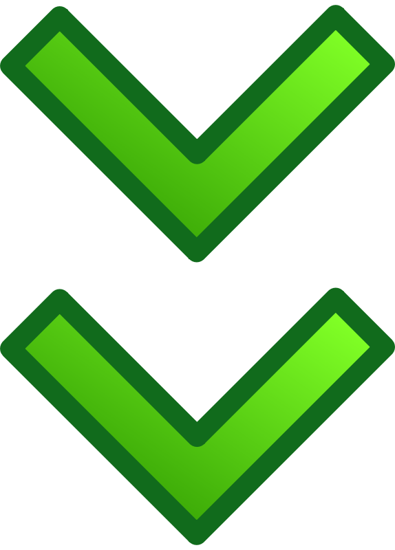 Free green double arrows set