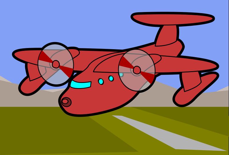 Free Red Plane