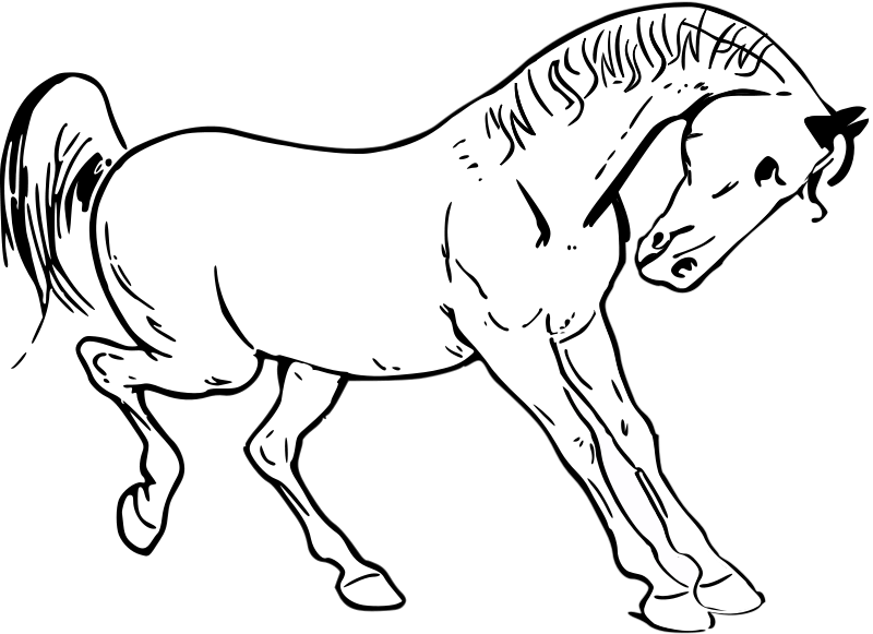 Free Prancing horse outline