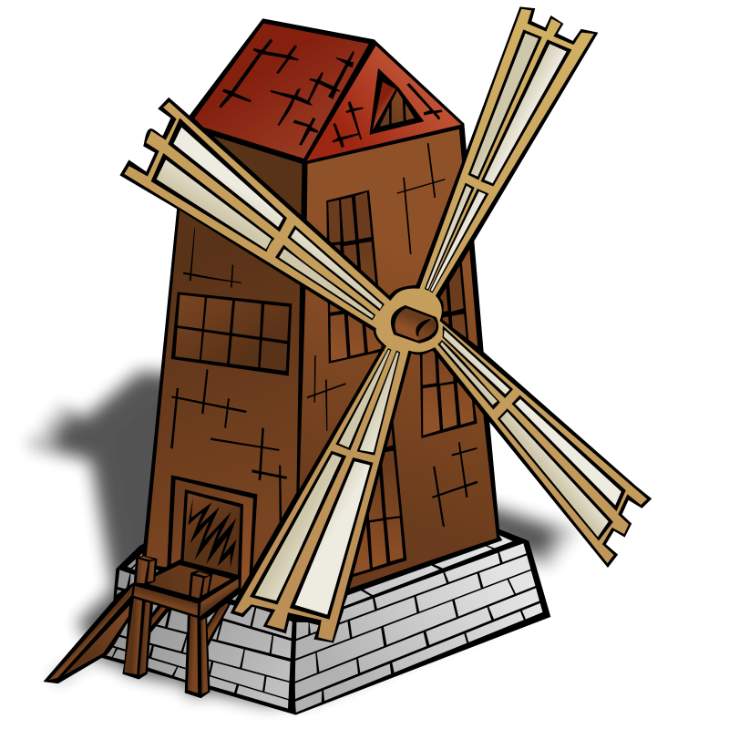 Free RPG map symbols: Windmill
