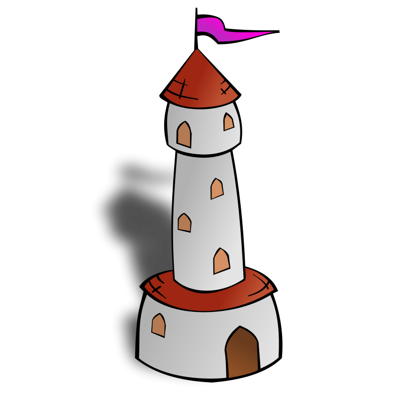 Free RPG map symbols: Round Tower with Flag