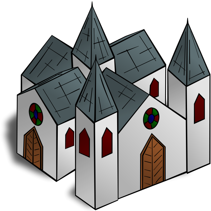 Free RPG map symbols: Cathedral