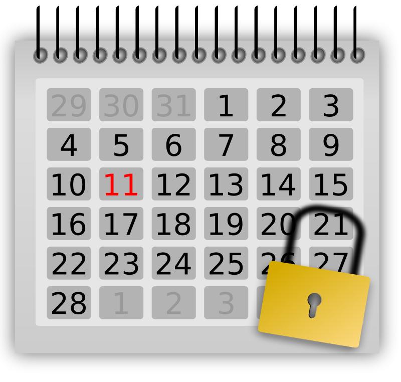 Free locked_calendar