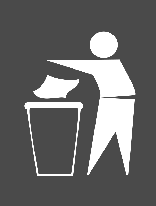 Free Spanish Trash Bin Sign