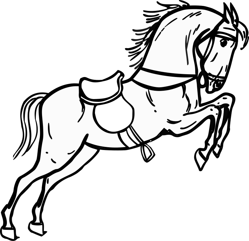 Free Jumping horse outline