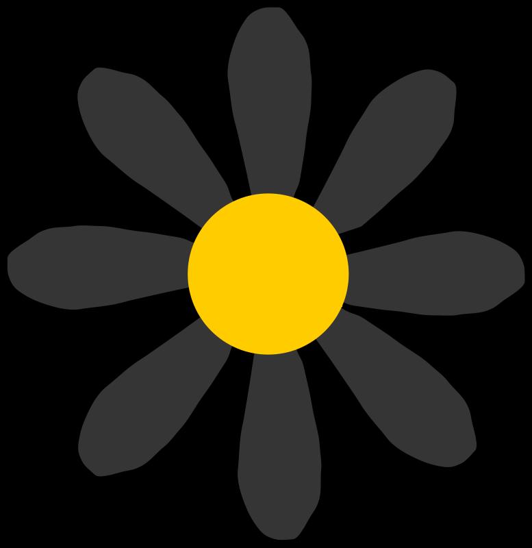 Free black flower